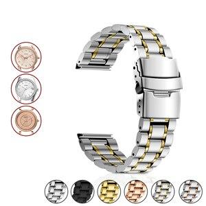 Ремешок для часов из нержавеющей стали, металлический ремешок для часов с кольцом-петлей, 16 мм, 18 мм, 20 мм, 22 мм, 24 мм