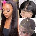 Парик на сетке 13x4 5x5 без клея, прямые бразильские волосы спереди, длиной 28, 30, 32 дюйма, для чернокожих женщин