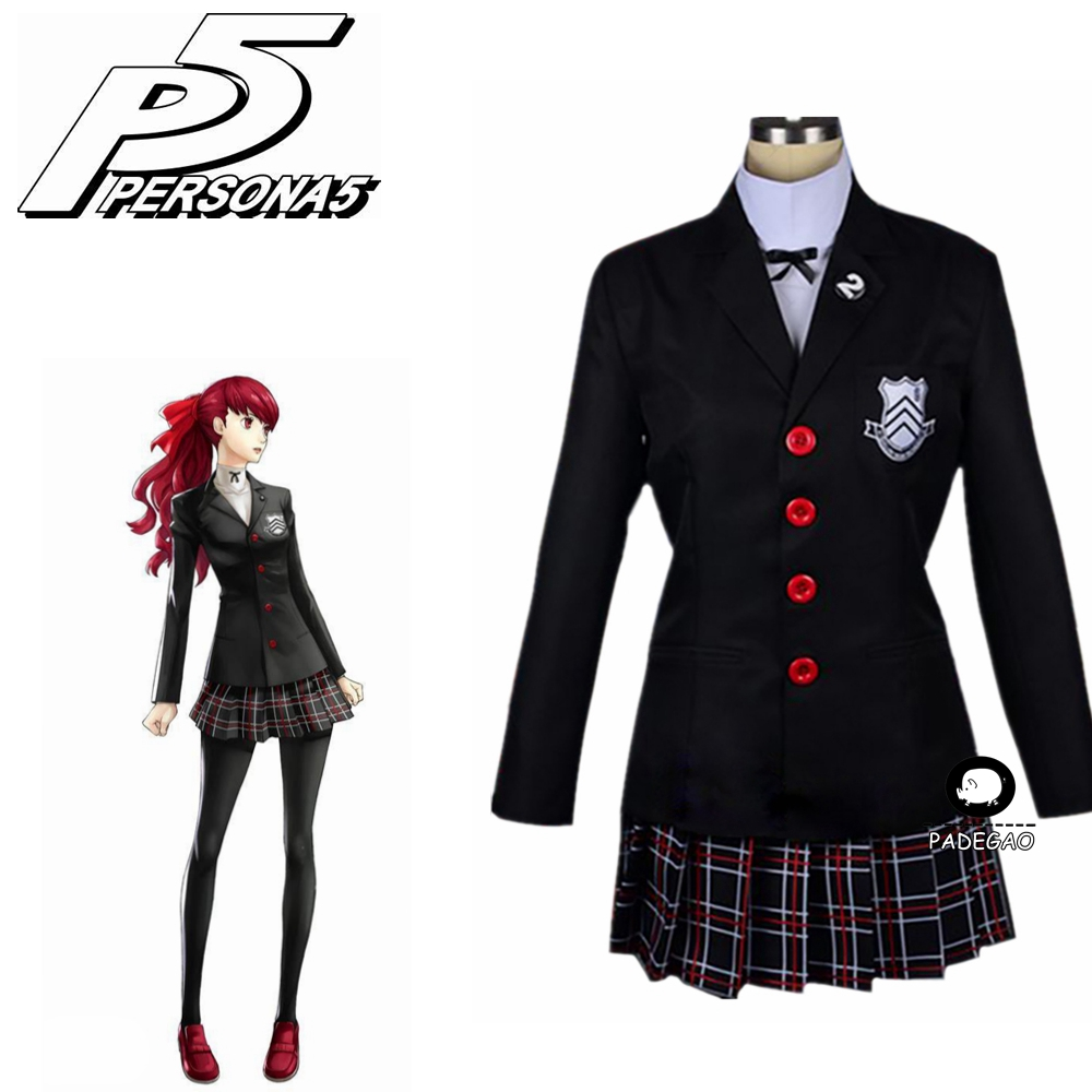 2019 New Persona 5 Kasumi Yoshizawa School Uniform Cosplay Costume Custom Made