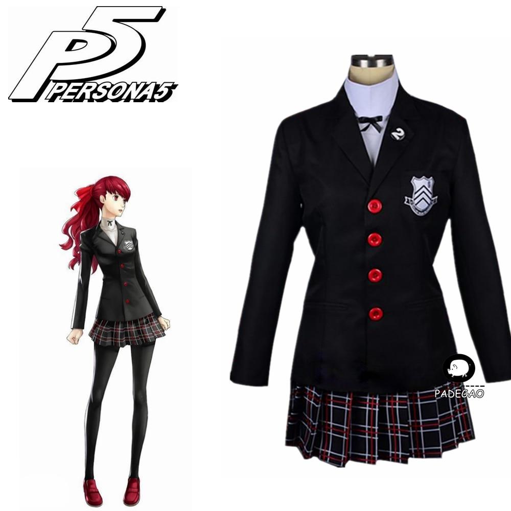 2019 New Persona 5 Kasumi Yoshizawa School Uniform Cosplay Costume Custom Made