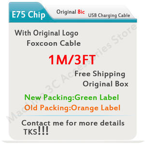 Data-Usb Charging-Cable Foxconn-Phone E75 8ic for 10pcs/Lot with Green-Label New-Box