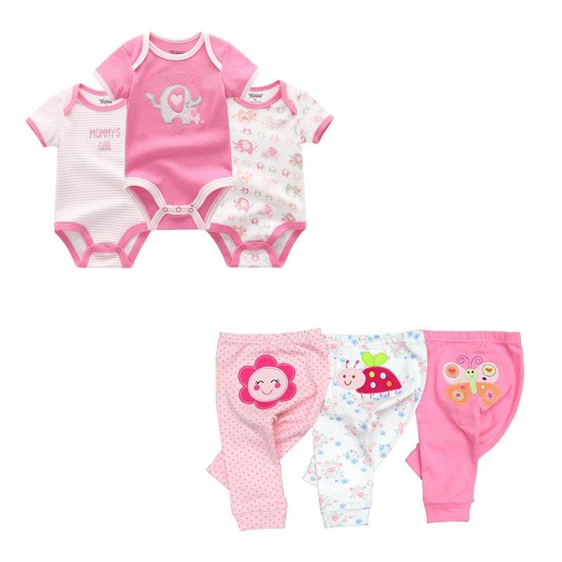 cute Bodysuits+Pants Baby Boy Girl Clothing Sets 0-12M Baby Boy Girl Clothes Unisex Newborn Baby Cotton Roupa de bebe