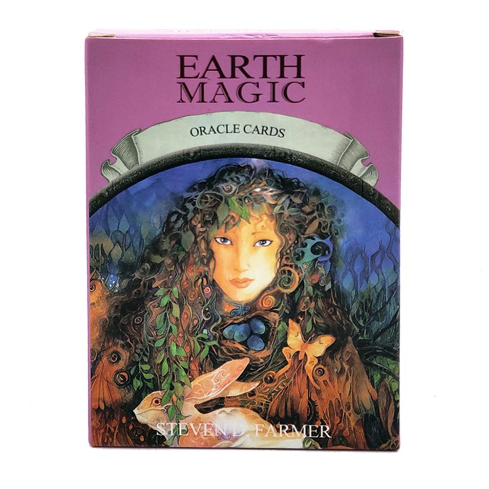 48PCS English Version Earth Magic Oracle Cards Deck Tarot Cards Guidance Divination Fate Board Game For Personal Use