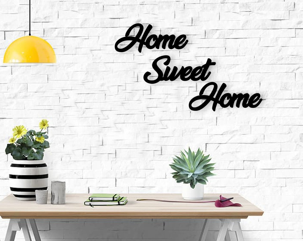 BK Home Home Sweet Home Wooden Wall YazısıModern Convenient Reliable Decoration Gift Quality Design Simple Vicinity