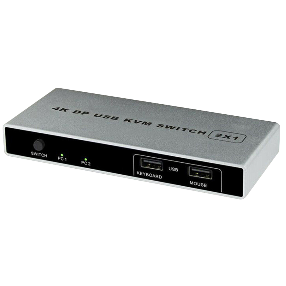 VGA Monitor Dual Port KVM Switch Connection Stable Mouse Support Displayport Controller Plug And Play 4K 60Hz Computer HDMI USB