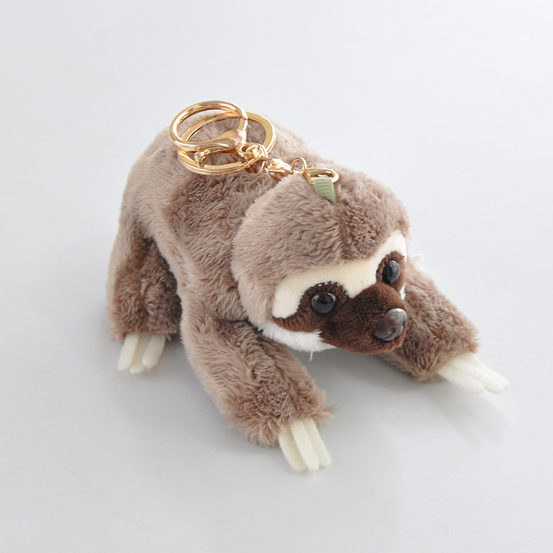 Image 3 - 12cm Cute Lying Sloth Plush Bag Pendant Staffed Kawaii Animal Plush Toys for Kids Children Lovely Doll Key Chains Gift-in Stuffed & Plush Animals from Toys & Hobbies
