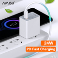 NAISU 24W PD Ladegerät Set Adapter Super Ladung QC 3,0 Telefon Lade Für Huawei Mate30 20 P40 Ehre 30 telefon Zubehör 2021