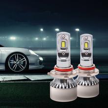 Aes 2 шт canbus 6000k светодиодный автомобилей головной светильник