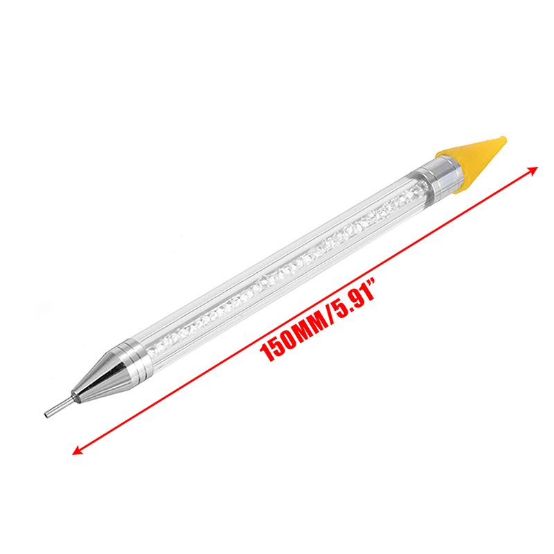 Двухконцевая ручка для раскрашивания ногтей с кристаллами и