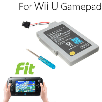 Batería de repuesto de 3600mah para mando Wii U, paquete de batería,...