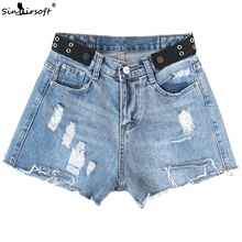 Summer Fashion Casual Denim Shorts Female High Waist Vintage Tassel Hole Sexy  Women Hot Shorts Jeans High Quality Wash Jeans new hot flowers embroidery high waist shorts jeans short women hole denim solid blue casual summer vintage bottoms