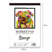 A3/A4 Marker Pad 50Sheet Professional Hand-Painting Sketchbook for Artist Drawing Notepad Books Art Supplies