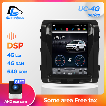 Car Radio Multimedia Navigatio Video Player For Toyta land cruiser 200 2008-2015 Tesla style Vertical Screen Stereo Android 9.1 image