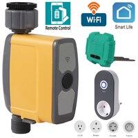 Sistema de riego inteligente automático, conexión WIFI, temporizador, Sensor de humedad del suelo, controlador de riego de jardín