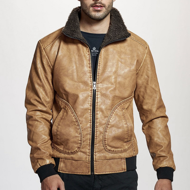 Winter Mens PU Jacket Thick Warm Men's Motorcycle Jacket New Fashion Windproof Leather Coat Male Size 3XL 2