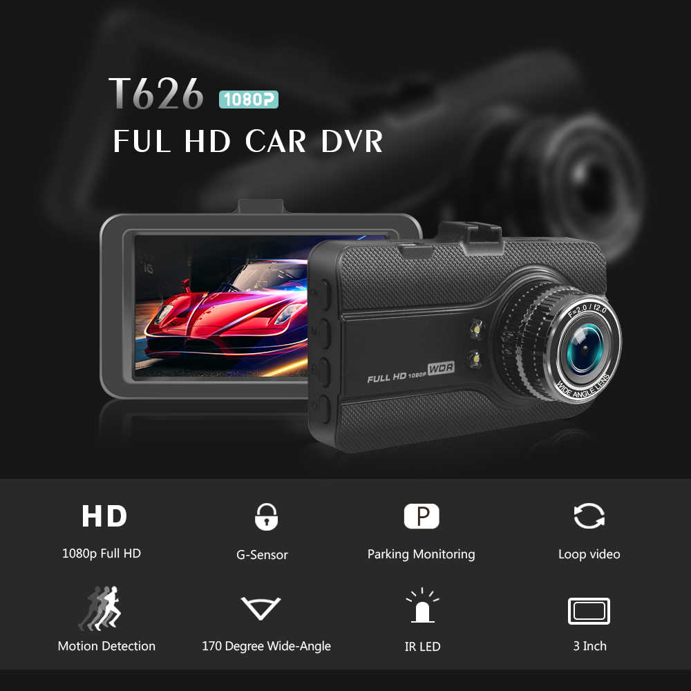 """車の dvr 100% オリジナル novatek 2.7 """"自動カメラ 1080 1080p フル hd ダッシュカム dvr ビデオレコーダー registrator 自動 registrator"""