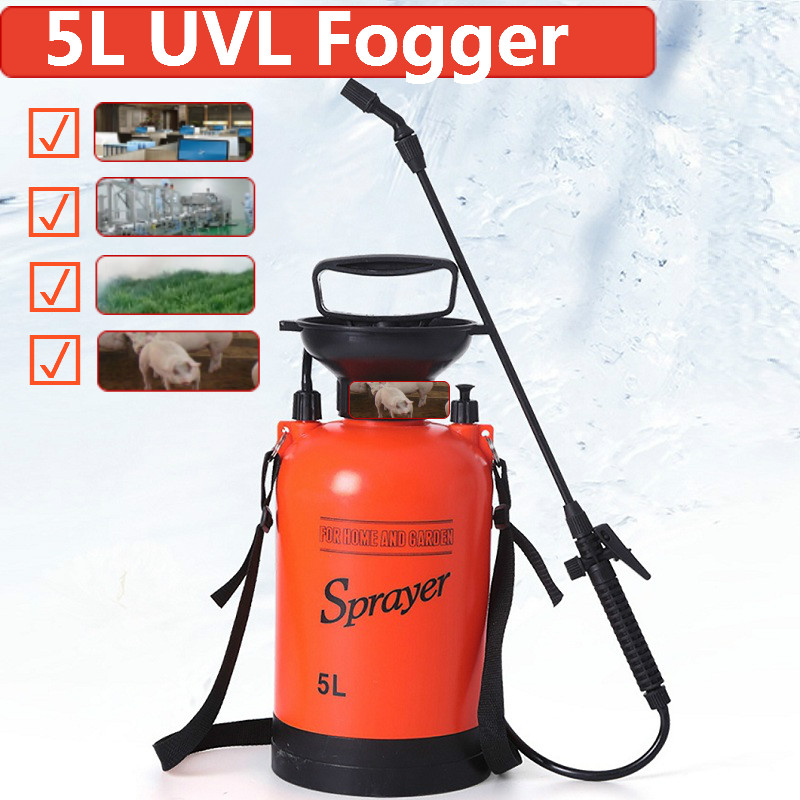 5L Sprayer Fogger Manual Pneumatic Pressure Sprayer Compressed Air Spray Pump Hand Pressure Watering Spray Bar Fungicide