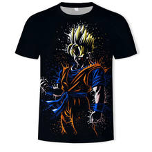 Nuovo 2019 degli uomini di 3D T-Shirt Dragon Ball Z Ultra Istinto Goku Super Saiyan Dio Blu Vegeta Stampato Del Fumetto di Estate T-shirt Taglia 5XL(China)