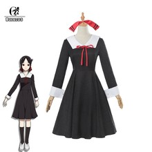 ROLECOS Kaguya-sama: Love is War Cosplay Costume Kaguya Shinomiya Anime Cosplay Chika Costume Girl School Uniform Women Dress(China)