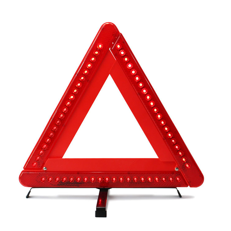 ZUJA Custom LED Triangle Set Led Flashing Light Warning Triangle