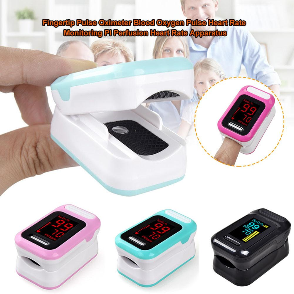 Fingertip Pulse Oximeter Blood Oxygen Pulse Heart Rate Monitoring PI Perfusion Heart Rate Apparatus New Arrival