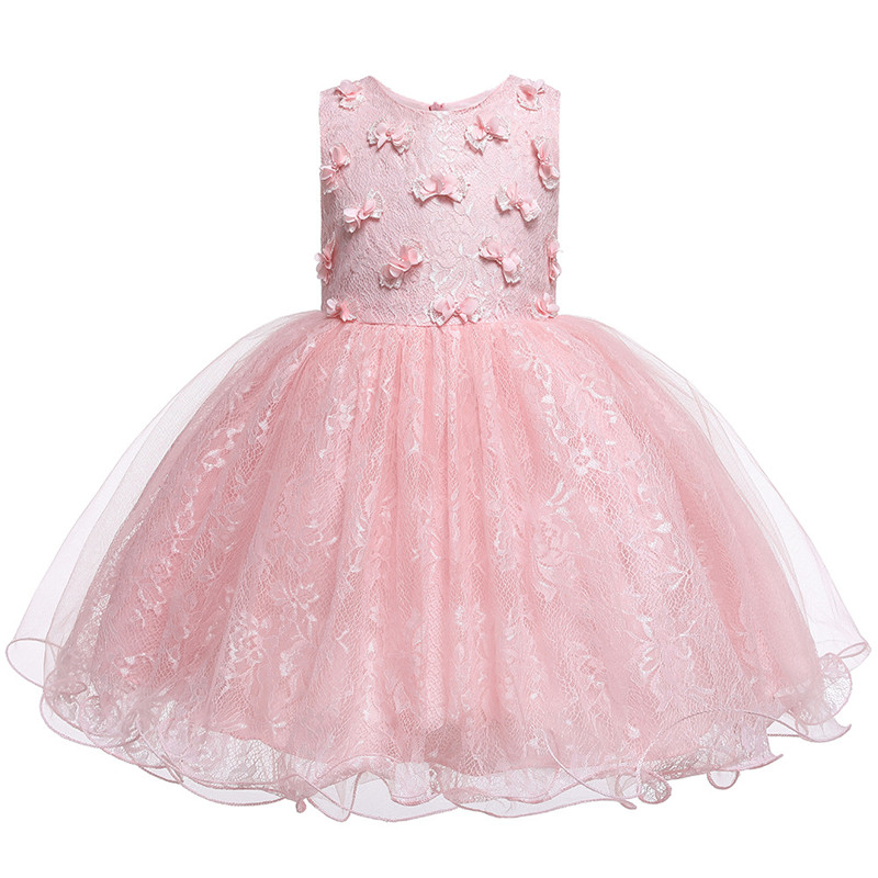 Princess Dress For Baby Girls Clothing Fancy Butterfly Baby Girls Dresses For Party Wedding First Communion Lace Tutu Kid Cloth