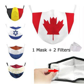 цена на Fashion Cotton Flag Print Mask Keep Fighting Face Masks Fabric Adult Protective PM2.5 Reusable Mask Proof Washable Filter Mask
