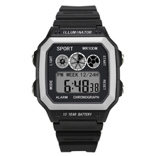 reloj hombre Men Sports Watches LED Digital Multifunction Electronic Military Relogio Masculino