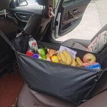 High Capacity Multifunction Car Rear Storage Bag Shopping Basket Car Interior Finish Container