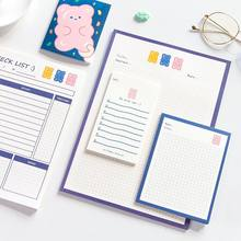 Sharkbang 5 sztuk/partia Kawaii 101 serii codziennie, aby To zrobić notatka uwaga lista kontrolna Bullet Agenda Planner Study Notepads szkoła papiernicze