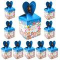 Cocomelon тема Бумага коробка для конфет с днем рождения на день рождения Рождество украшения питания для детей Baby Shower вечерние закуски Коробки ...