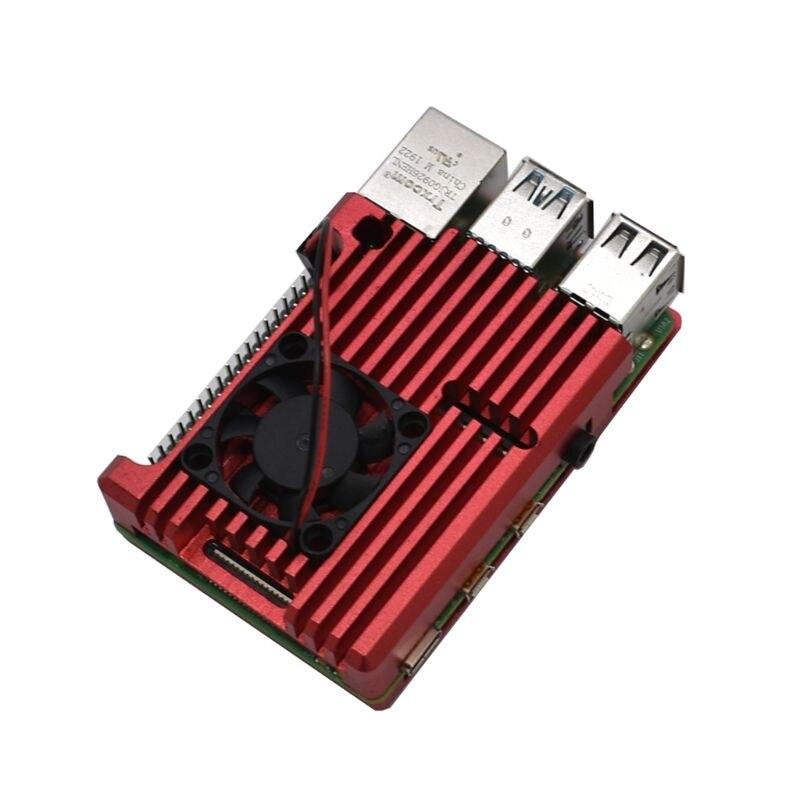 1Set Aluminum Protective Case Enclosure Metal Shell For Raspberry Pi 4 Model B M5TB
