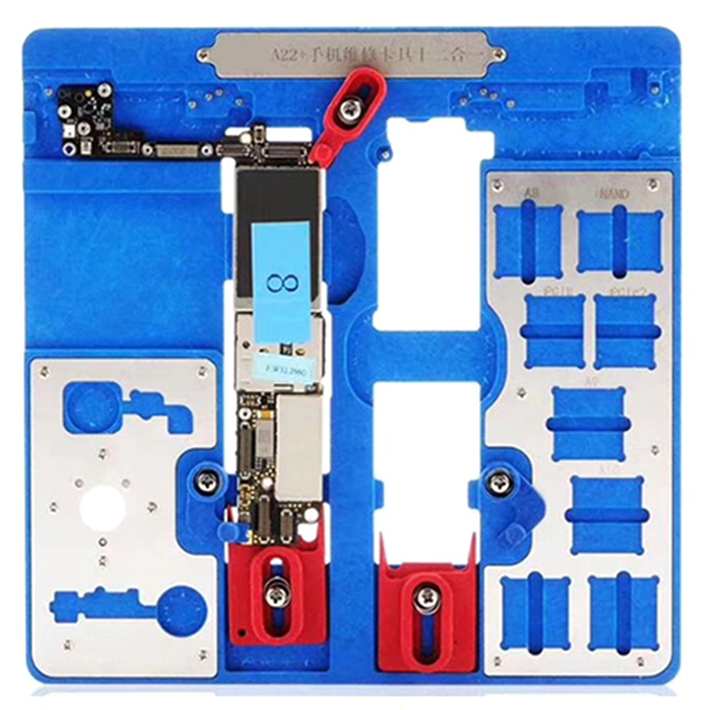 Top Deals 12 in 1 A22+ Logic Board Clamps for iPhone 5C 5S 6G 6S 6P 6SP SE 7G 7P 8G 8P XR Fixture Holder Fix Repair Mold BGA Rep image