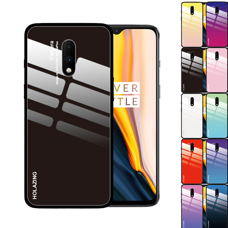 11 Colors for <font><b>OnePlus</b></font> 7T Pro 7 6T 6 <font><b>5T</b></font> 5 <font><b>Case</b></font> Crystal Gradient Tempered <font><b>Glass</b></font> Cover Shockproof Shell image