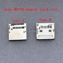 A of B? 5PCS MS + SD dubbele geheugenkaart slot onderdelen voor Sony HX50 HX50 HX300 NEX6 NEX7 NEX5R NEX5T A7 a7S A7II A5000 A5100 Camera