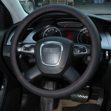 Genuine Leather Steering Wheel Cover 38CM 15'' Car Styling Universal Natural Leather Steering Wheel Cover