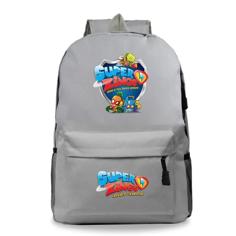 Sac A Dos Bookbag Super Zings Cartoon Backpack Women School Bags For Teenage Girls Back Pack Fashion Casual Travel Backpack Kids