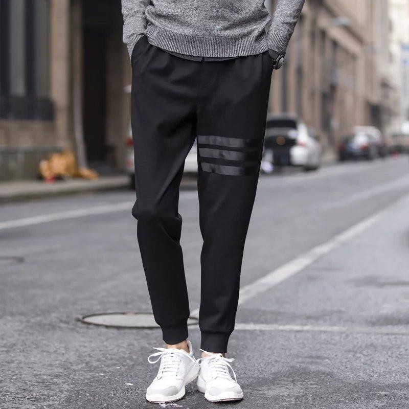 2017 Autumn Men Harem Pants Slim Fit Skinny Pants Casual Athletic Pants Sweatpants Men's Closing Ankle Banded Pants