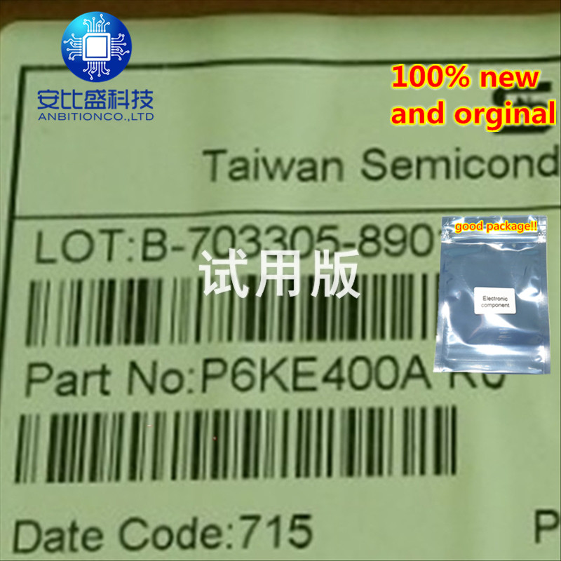 50pcs 100% New And Orginal P6KE400A  In Stock
