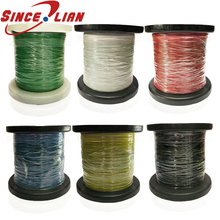 26 28 30 32 34AWG PTFE Wire Solder Micro Litz Stranded Wire OD 0.32mm 0.38mm 0.53mm 0.6mm 0.7mm Red Black White Grey Color 10m