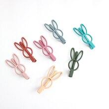 Cute rabbit hairpin headwear scrub bangs clip broken hair female Korean headdress cute metal Female gift