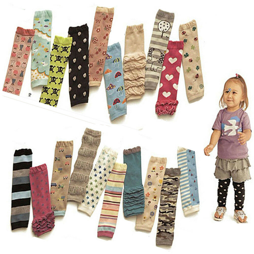 Adorable Baby Child Kid Stars Stripe Hearts Socks Tights Arm Leg Warmers NEW WATXW0012