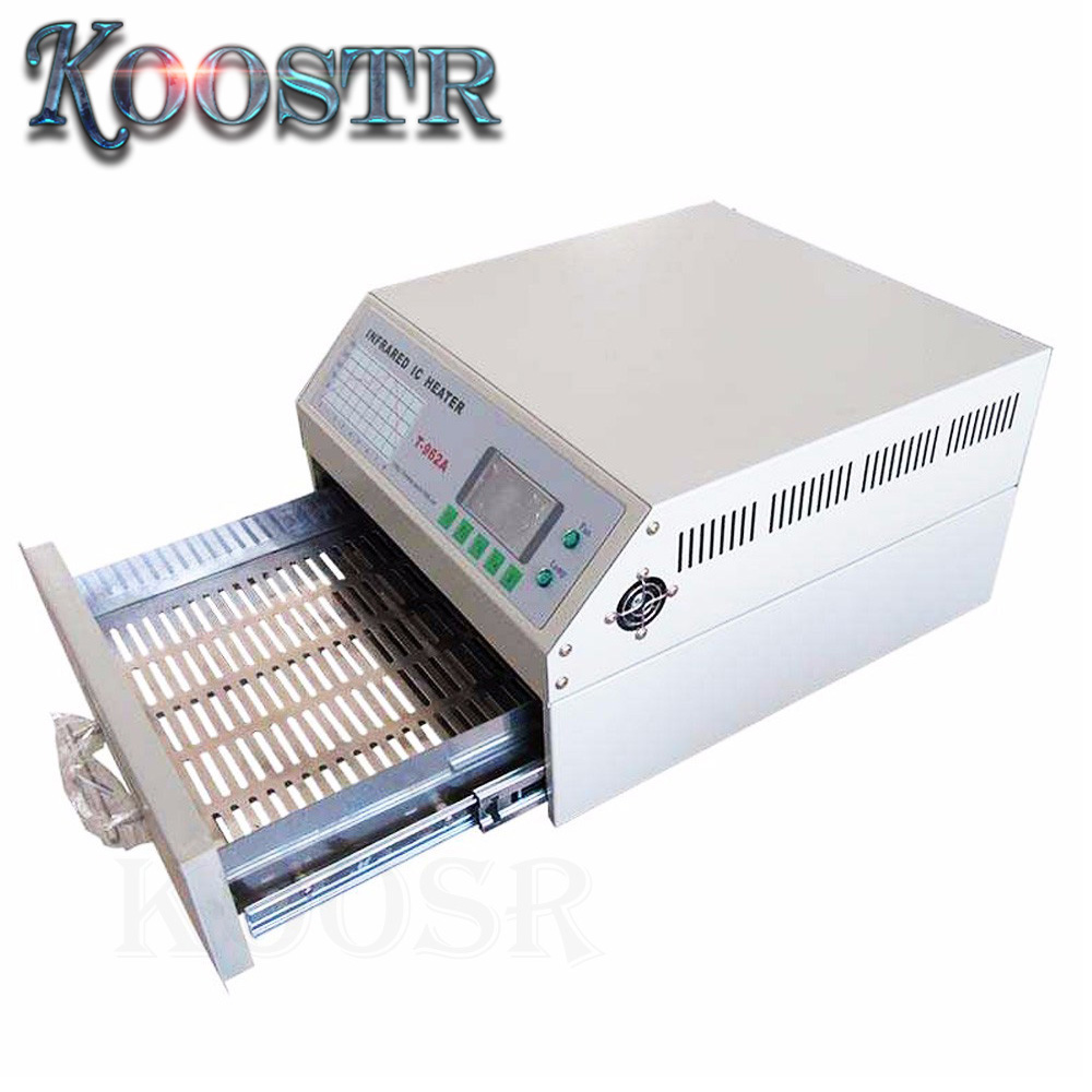 Puhui T962A DGC INFRARED Reflow Oven Solder IC HEATER Rework Station Heater Infrared Reflow Wave Oven 300m Puhui T-962A
