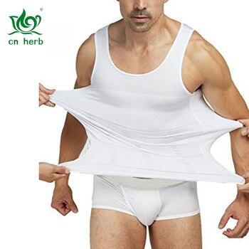 Cn Herb Mens Slimming Body Shaper Gynecomastia Vest Tank Top Shapewear For Men Free Shipping