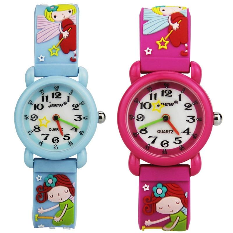 Fairy 3D Silicone Children Watch Cute Cartoon Waterproof Quartz Watch Primary School Student Watch