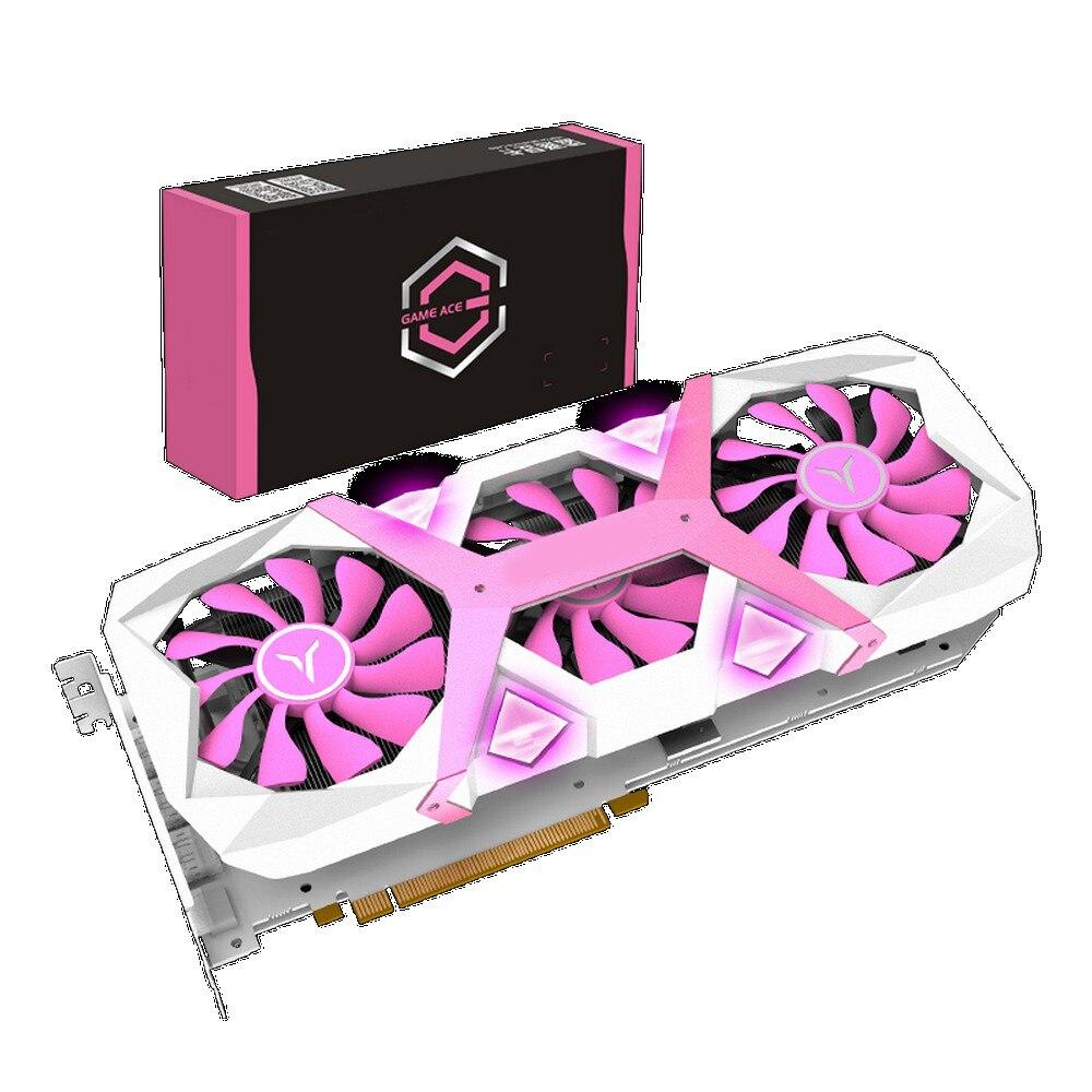 Yeston Radeon RX 5700 XT GPU 8GB cartes graphiques ordinateur de bureau de jeu PC support vidéo DP/HDMI PCI-E X 256bit