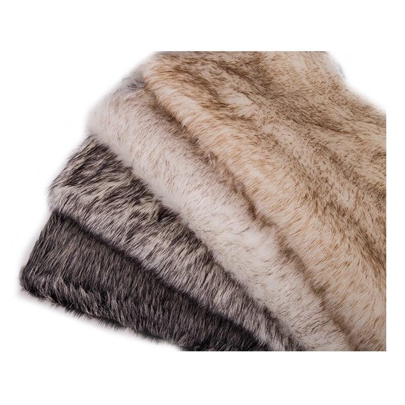 160*100cm fourrure de lapin fausse peluche tissu pour manteau oreiller col roulé maison couverture 3cm longue pile peluche fourrure tissu telas - 4