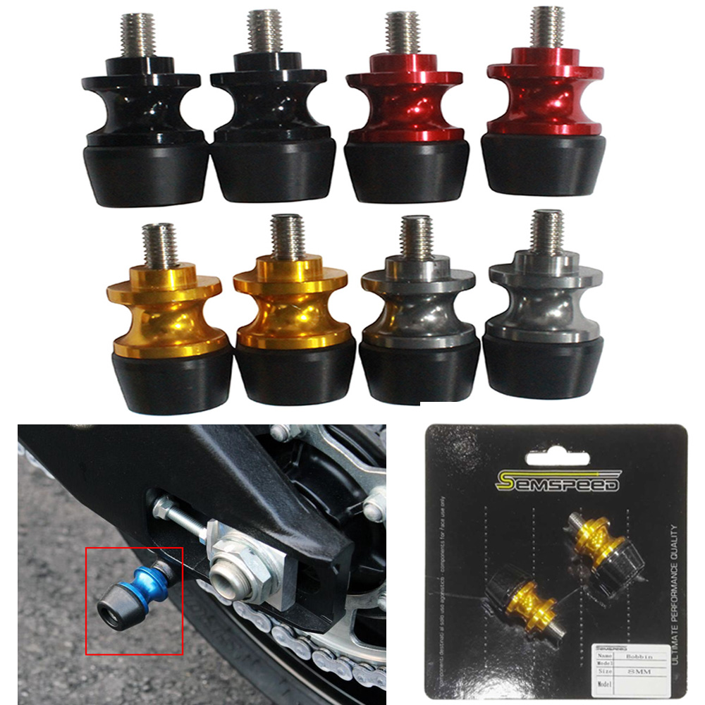 8MM Swingarm Spools Slider For <font><b>SUZUKI</b></font> GSXR <font><b>125</b></font>/150/600/750/1000 DL 650/1000 V-Strom <font><b>GSX</b></font>-R GSXR150 GSXR125 Motorcycle Stand Screw image