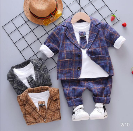 Bibicola Shirt Clothing-Set Outfits-Suit Spring Autumn Baby-Boys Children New-Fashion title=