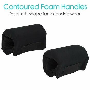 1 Pair Rollator Non-Slip Easy Clean Hand Cover Walker Grip Padded Soft Cushion Handle Aid Crutch Rolling Wheelchair Elderly